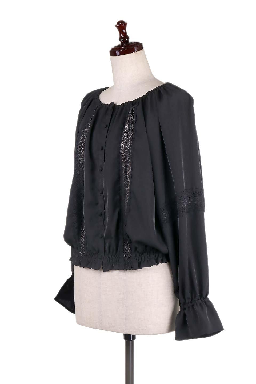 CandySleeveLaceBlouseキャンディースリーブ・レースブラウス大人カジュアルに最適な海外ファッションのothers(その他インポートアイテム)のトップスやシャツ・ブラウス。キャンディースリーブが可愛い長袖ブラウス。女性らしさをアピールするレースのテープもポイントです。/main-13