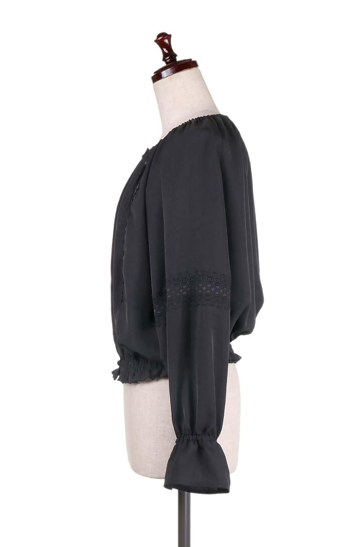 CandySleeveLaceBlouseキャンディースリーブ・レースブラウス大人カジュアルに最適な海外ファッションのothers(その他インポートアイテム)のトップスやシャツ・ブラウス。キャンディースリーブが可愛い長袖ブラウス。女性らしさをアピールするレースのテープもポイントです。/main-14