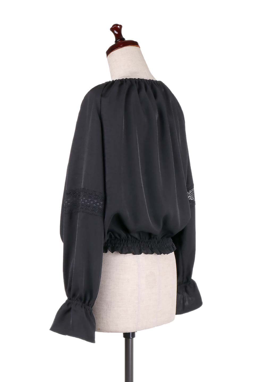 CandySleeveLaceBlouseキャンディースリーブ・レースブラウス大人カジュアルに最適な海外ファッションのothers(その他インポートアイテム)のトップスやシャツ・ブラウス。キャンディースリーブが可愛い長袖ブラウス。女性らしさをアピールするレースのテープもポイントです。/main-15