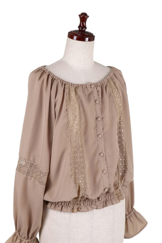 CandySleeveLaceBlouseキャンディースリーブ・レースブラウス大人カジュアルに最適な海外ファッションのothers(その他インポートアイテム)のトップスやシャツ・ブラウス。キャンディースリーブが可愛い長袖ブラウス。女性らしさをアピールするレースのテープもポイントです。/main-7