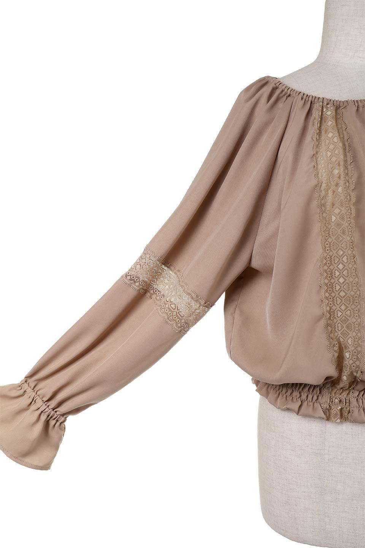 CandySleeveLaceBlouseキャンディースリーブ・レースブラウス大人カジュアルに最適な海外ファッションのothers(その他インポートアイテム)のトップスやシャツ・ブラウス。キャンディースリーブが可愛い長袖ブラウス。女性らしさをアピールするレースのテープもポイントです。/main-8