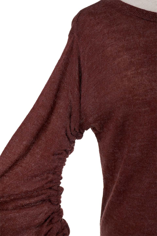 GatheredSleeveKnitTopギャザースリーブニット大人カジュアルに最適な海外ファッションのothers(その他インポートアイテム)のトップスやニット・セーター。キュッと絞れるギャザースリーブが魅力のニット。ヒモを完全に緩めればパフスリーブで楽しめます。/main-7