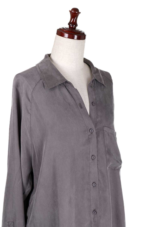 LOVESTITCHのJadaButtondownオーバーサイズ・ソフトシャツブラウス/海外ファッションが好きな大人カジュアルのためのLOVESTITCH(ラブステッチ)のトップスやシャツ・ブラウス。テロテロ素材のオーバーサイズシャツ。キュプラとテンセルの超ソフトな素材を使用しています。/main-6