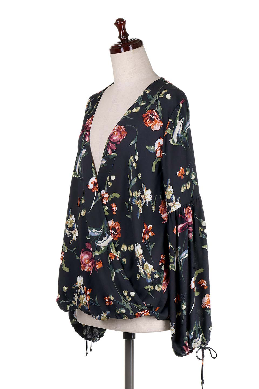 LOVESTITCHのAlishaTop花柄長袖ブラウス/海外ファッションが好きな大人カジュアルのためのLOVESTITCH(ラブステッチ)のトップスやシャツ・ブラウス。大人っぽい花柄がおすすめポイントのブラウス。フワッと膨らんだ袖はキュッと絞ればビショップスリーブ。/main-1