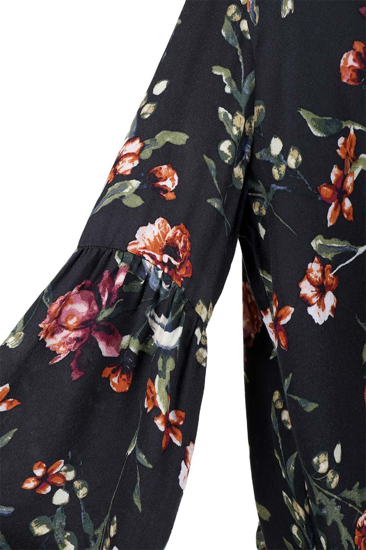 LOVESTITCHのAlishaTop花柄長袖ブラウス/海外ファッションが好きな大人カジュアルのためのLOVESTITCH(ラブステッチ)のトップスやシャツ・ブラウス。大人っぽい花柄がおすすめポイントのブラウス。フワッと膨らんだ袖はキュッと絞ればビショップスリーブ。/main-8