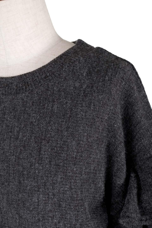 FrillSleeveTopフリルスリーブ・トップス大人カジュアルに最適な海外ファッションのothers(その他インポートアイテム)のトップスやニット・セーター。人気のフリルスリーブのニット・トップス。二重織りのリブニット生地が特徴で、細かい縞々が目を引きます。/main-6
