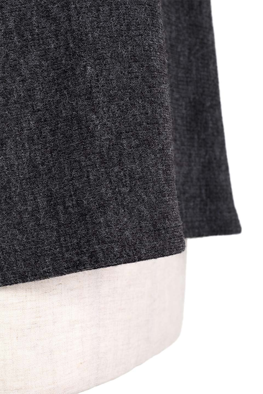 FrillSleeveTopフリルスリーブ・トップス大人カジュアルに最適な海外ファッションのothers(その他インポートアイテム)のトップスやニット・セーター。人気のフリルスリーブのニット・トップス。二重織りのリブニット生地が特徴で、細かい縞々が目を引きます。/main-8