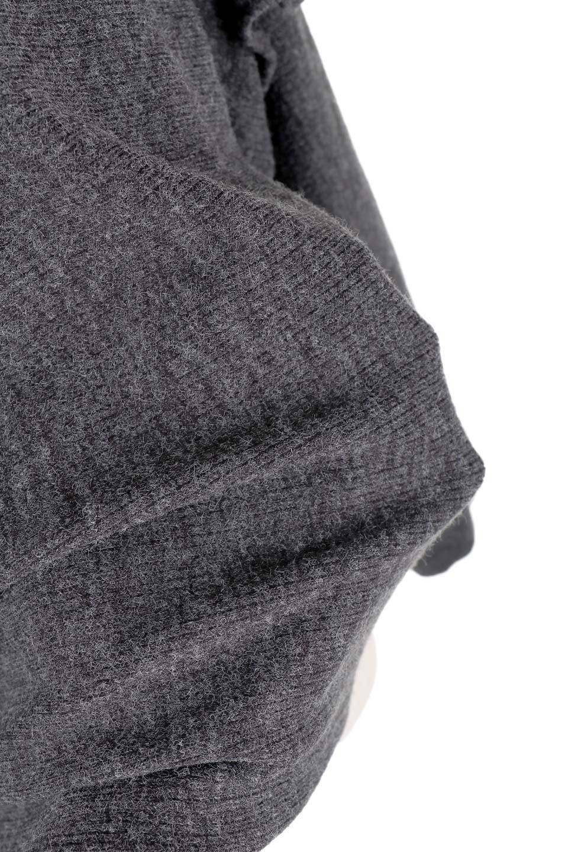 FrillSleeveTopフリルスリーブ・トップス大人カジュアルに最適な海外ファッションのothers(その他インポートアイテム)のトップスやニット・セーター。人気のフリルスリーブのニット・トップス。二重織りのリブニット生地が特徴で、細かい縞々が目を引きます。/main-9