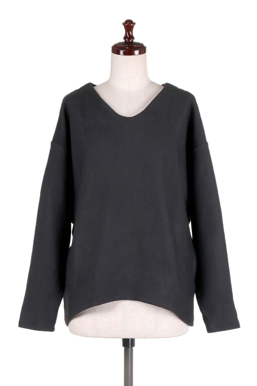 DolmanSleeveCocoonTopドルマンスリーブ・トップス大人カジュアルに最適な海外ファッションのothers(その他インポートアイテム)のトップスやニット・セーター。シンプルデザインのドルマンスリーブトップス。二重織りのリブニット生地が特徴で、細かい縞々が目を引きます。/main-10