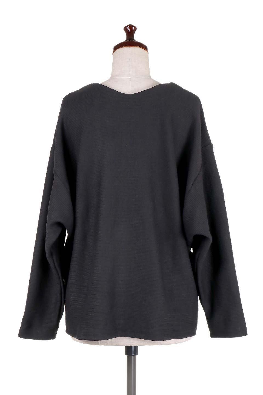 DolmanSleeveCocoonTopドルマンスリーブ・トップス大人カジュアルに最適な海外ファッションのothers(その他インポートアイテム)のトップスやニット・セーター。シンプルデザインのドルマンスリーブトップス。二重織りのリブニット生地が特徴で、細かい縞々が目を引きます。/main-14