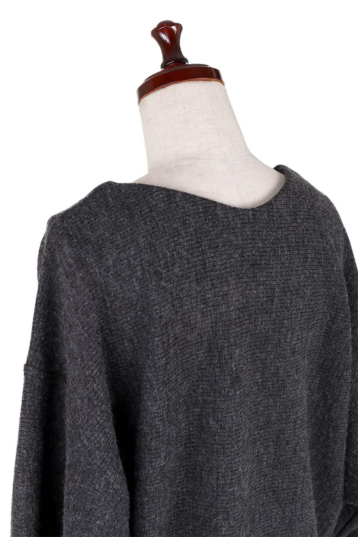 DolmanSleeveCocoonTopドルマンスリーブ・トップス大人カジュアルに最適な海外ファッションのothers(その他インポートアイテム)のトップスやニット・セーター。シンプルデザインのドルマンスリーブトップス。二重織りのリブニット生地が特徴で、細かい縞々が目を引きます。/main-6