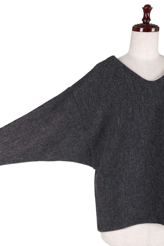 DolmanSleeveCocoonTopドルマンスリーブ・トップス大人カジュアルに最適な海外ファッションのothers(その他インポートアイテム)のトップスやニット・セーター。シンプルデザインのドルマンスリーブトップス。二重織りのリブニット生地が特徴で、細かい縞々が目を引きます。/main-8