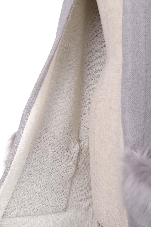 FauxFurPocketKnitCoadiganファーポケット・ニットコーディガン大人カジュアルに最適な海外ファッションのothers(その他インポートアイテム)のアウターやコート。ポケットのファーがポイントのニットコーディガン。薄手ですが裏地の見た目もキレイなダブルフェイスニットを使用。/main-7