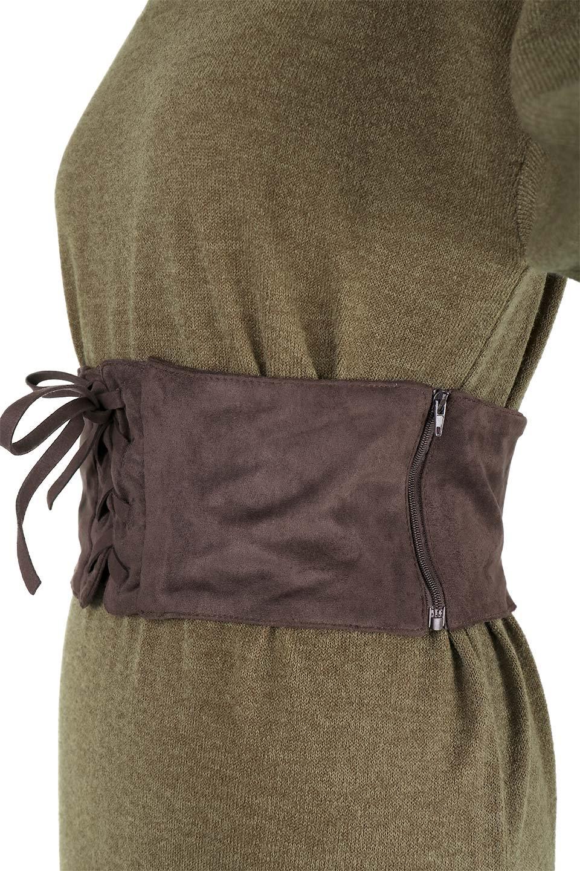 LongKnitDressw/Lace-UpSashBeltレースアップサッシュベルト付ワンピース大人カジュアルに最適な海外ファッションのothers(その他インポートアイテム)のワンピースやマキシワンピース。可愛いサッシュベルトが付属した薄手のニットワンピ。付属するスウェード風のサッシュベルトはギャザーやレースアップなど、単体でも使いまわせそうなクオリティです。/main-19
