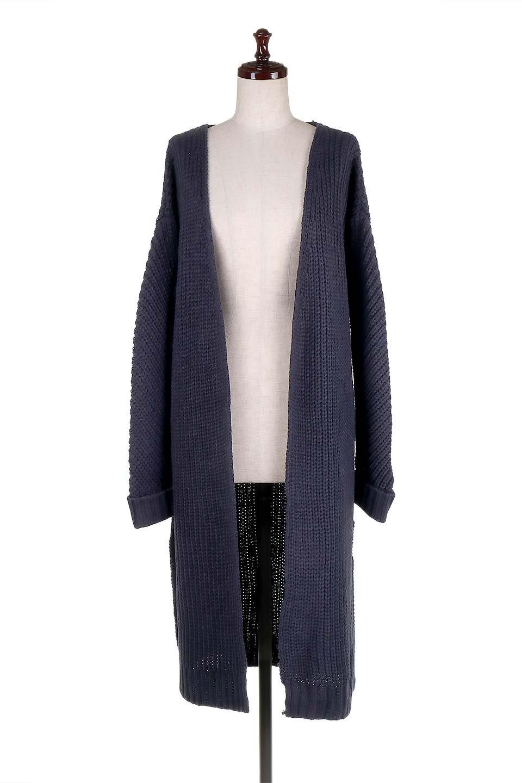 LongBulkyCardiganロングカーディガン大人カジュアルに最適な海外ファッションのothers(その他インポートアイテム)のアウターやカーディガン。ザックリ編みのロングカーディガン。動きやすいスリット入り。/main-10