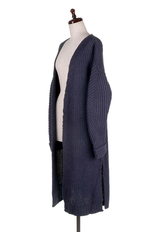 LongBulkyCardiganロングカーディガン大人カジュアルに最適な海外ファッションのothers(その他インポートアイテム)のアウターやカーディガン。ザックリ編みのロングカーディガン。動きやすいスリット入り。/main-11