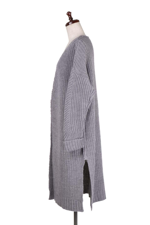 LongBulkyCardiganロングカーディガン大人カジュアルに最適な海外ファッションのothers(その他インポートアイテム)のアウターやカーディガン。ザックリ編みのロングカーディガン。動きやすいスリット入り。/main-17