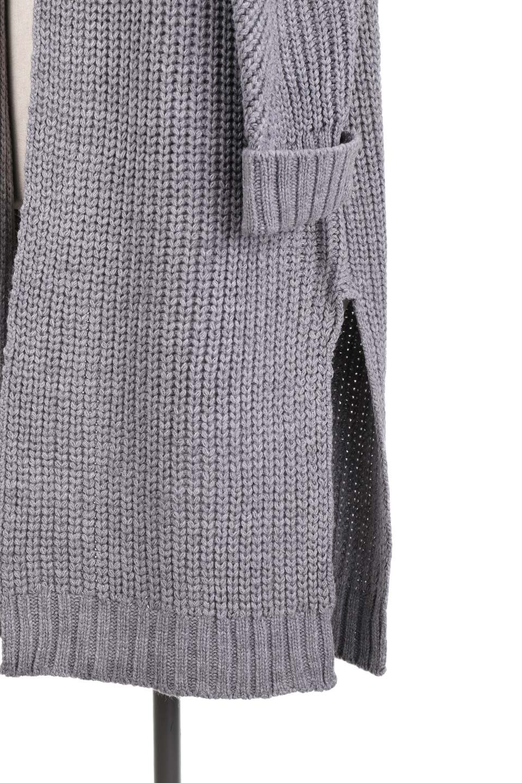 LongBulkyCardiganロングカーディガン大人カジュアルに最適な海外ファッションのothers(その他インポートアイテム)のアウターやカーディガン。ザックリ編みのロングカーディガン。動きやすいスリット入り。/main-24