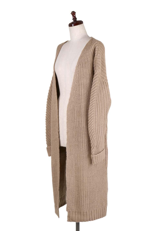 LongBulkyCardiganロングカーディガン大人カジュアルに最適な海外ファッションのothers(その他インポートアイテム)のアウターやカーディガン。ザックリ編みのロングカーディガン。動きやすいスリット入り。/main-6