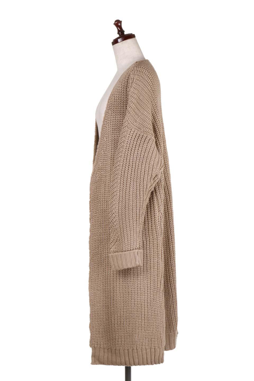 LongBulkyCardiganロングカーディガン大人カジュアルに最適な海外ファッションのothers(その他インポートアイテム)のアウターやカーディガン。ザックリ編みのロングカーディガン。動きやすいスリット入り。/main-7