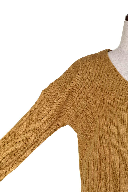 WideRibV-KneckTopワイドリブ・ニットトップス大人カジュアルに最適な海外ファッションのothers(その他インポートアイテム)のトップスやニット・セーター。ワイドリブのVネックセーター。幅広いコーデに使える万能トップスです。/main-22