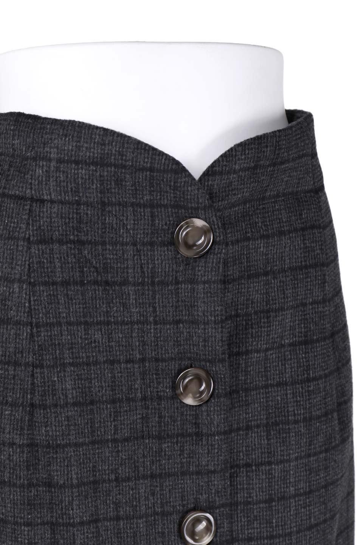 GlenCheckHighWaistSkirtグレンチェック起毛スカート大人カジュアルに最適な海外ファッションのothers(その他インポートアイテム)のボトムやスカート。人気のグレンチェックが目を引くハイウエストスカート。しっとりソフトな起毛ツイードでグレンチェック。/main-10