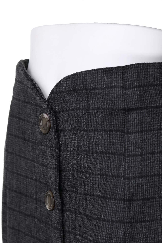 GlenCheckHighWaistSkirtグレンチェック起毛スカート大人カジュアルに最適な海外ファッションのothers(その他インポートアイテム)のボトムやスカート。人気のグレンチェックが目を引くハイウエストスカート。しっとりソフトな起毛ツイードでグレンチェック。/main-11