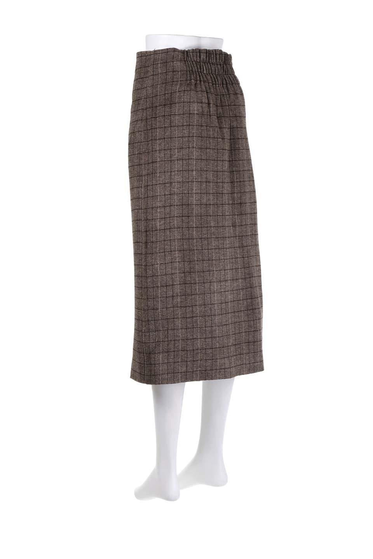 GlenCheckHighWaistSkirtグレンチェック起毛スカート大人カジュアルに最適な海外ファッションのothers(その他インポートアイテム)のボトムやスカート。人気のグレンチェックが目を引くハイウエストスカート。しっとりソフトな起毛ツイードでグレンチェック。/main-8