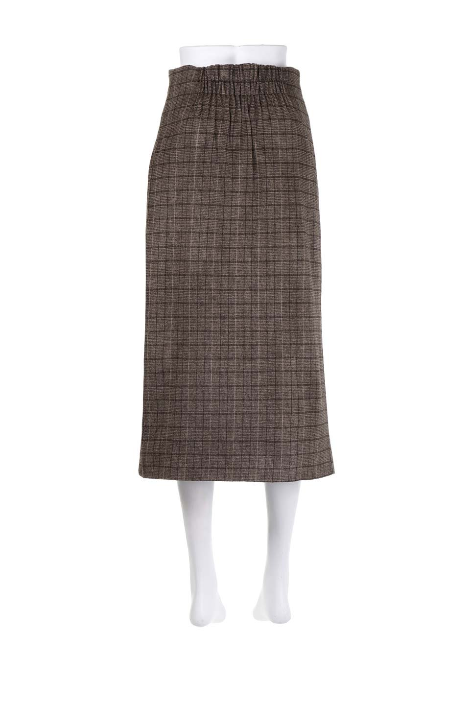 GlenCheckHighWaistSkirtグレンチェック起毛スカート大人カジュアルに最適な海外ファッションのothers(その他インポートアイテム)のボトムやスカート。人気のグレンチェックが目を引くハイウエストスカート。しっとりソフトな起毛ツイードでグレンチェック。/main-9