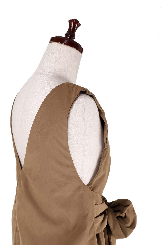 WideLegJumpSuitワイドパンツ・オールインワン大人カジュアルに最適な海外ファッションのothers(その他インポートアイテム)のボトムやロンパース類。大きめリボンがポイントのワイドパンツ・オールインワン。様々なインナーでレイヤードを楽しめる今年らしいオールインワンです。/main-6