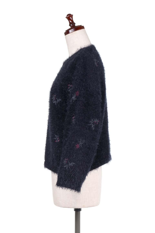 FloralEmbroideredShaggyTops花柄シャギーニット大人カジュアルに最適な海外ファッションのothers(その他インポートアイテム)のトップスやニット・セーター。しっとりソフトなシャギーニットのプルオーバートップス。なめらかな肌触りのニットに可愛らしい花の刺繍入り。/main-12