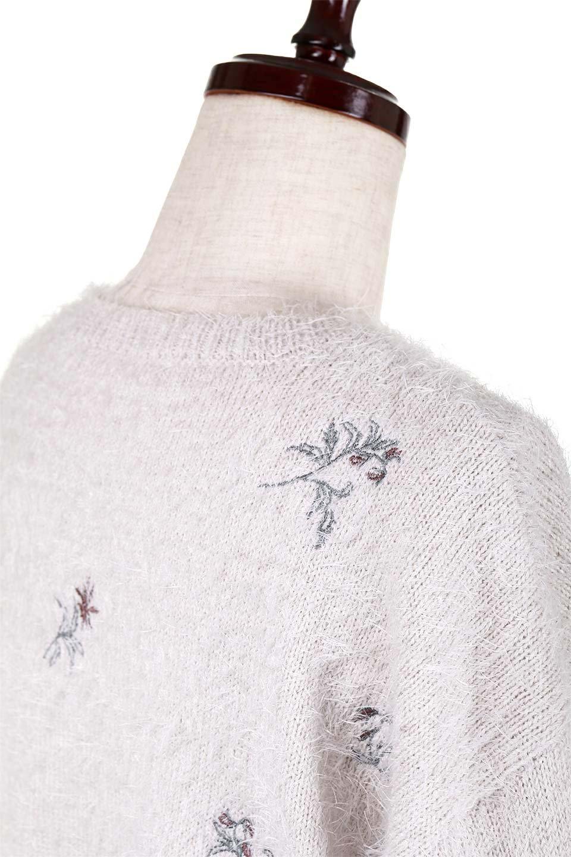 FloralEmbroideredShaggyTops花柄シャギーニット大人カジュアルに最適な海外ファッションのothers(その他インポートアイテム)のトップスやニット・セーター。しっとりソフトなシャギーニットのプルオーバートップス。なめらかな肌触りのニットに可愛らしい花の刺繍入り。/main-18