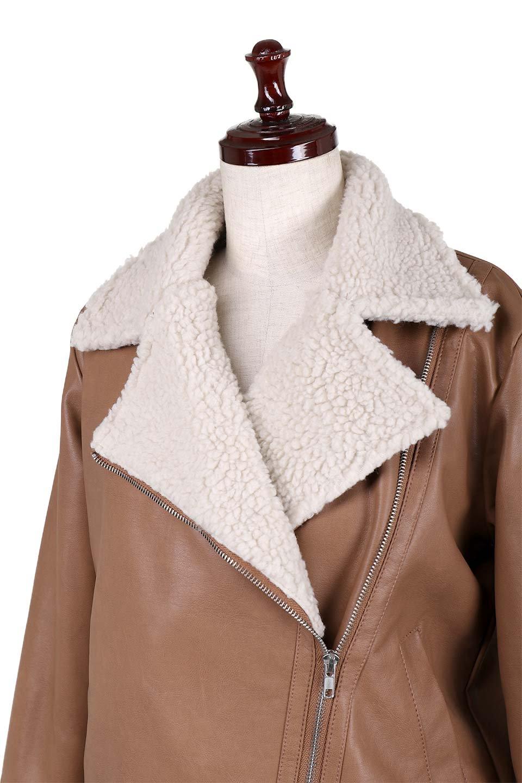 FauxShearlingBikerJKTボア付ライダースジャケット大人カジュアルに最適な海外ファッションのothers(その他インポートアイテム)のアウターやジャケット。裏ボアが嬉しいダブル襟のライダースジャケット。もはや定番となった人気のライダースジャケットを裏ボアにした暖かバージョン。/main-11