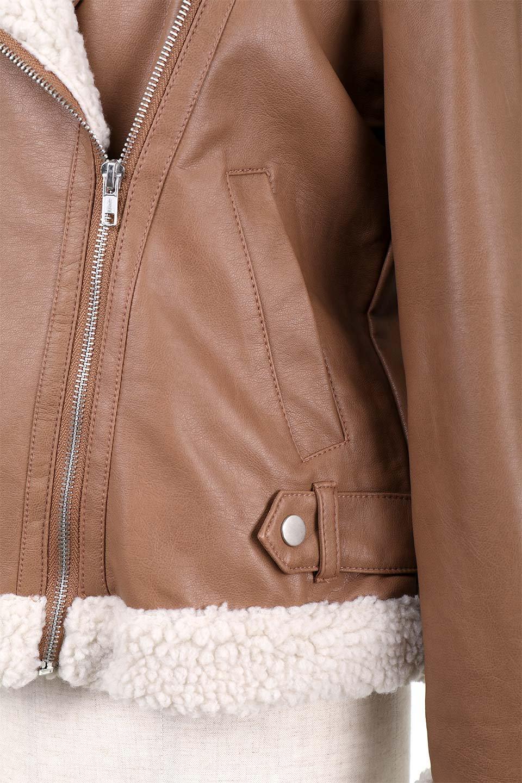 FauxShearlingBikerJKTボア付ライダースジャケット大人カジュアルに最適な海外ファッションのothers(その他インポートアイテム)のアウターやジャケット。裏ボアが嬉しいダブル襟のライダースジャケット。もはや定番となった人気のライダースジャケットを裏ボアにした暖かバージョン。/main-14
