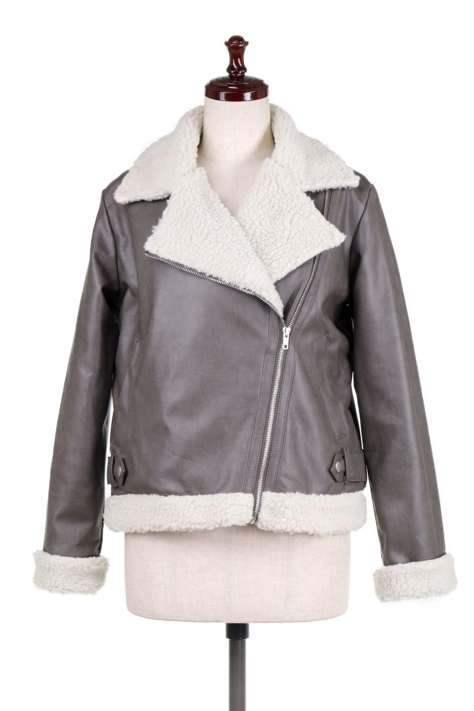 FauxShearlingBikerJKTボア付ライダースジャケット大人カジュアルに最適な海外ファッションのothers(その他インポートアイテム)のアウターやジャケット。裏ボアが嬉しいダブル襟のライダースジャケット。もはや定番となった人気のライダースジャケットを裏ボアにした暖かバージョン。/main-5