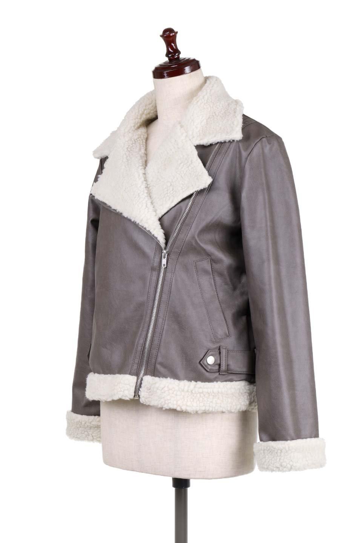 FauxShearlingBikerJKTボア付ライダースジャケット大人カジュアルに最適な海外ファッションのothers(その他インポートアイテム)のアウターやジャケット。裏ボアが嬉しいダブル襟のライダースジャケット。もはや定番となった人気のライダースジャケットを裏ボアにした暖かバージョン。/main-6