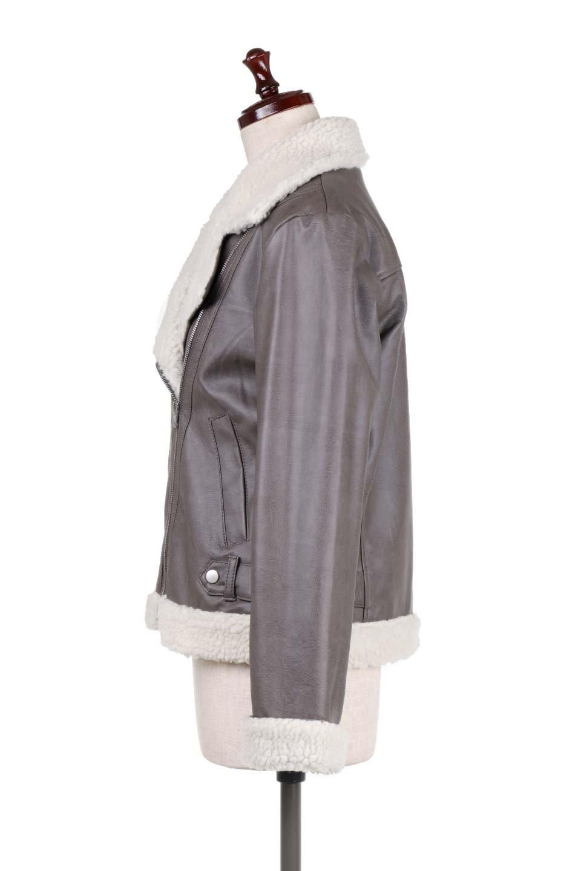 FauxShearlingBikerJKTボア付ライダースジャケット大人カジュアルに最適な海外ファッションのothers(その他インポートアイテム)のアウターやジャケット。裏ボアが嬉しいダブル襟のライダースジャケット。もはや定番となった人気のライダースジャケットを裏ボアにした暖かバージョン。/main-7