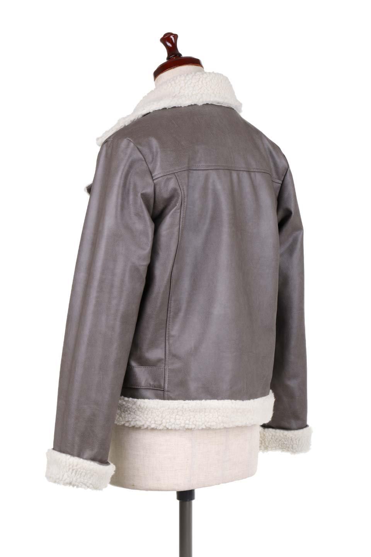 FauxShearlingBikerJKTボア付ライダースジャケット大人カジュアルに最適な海外ファッションのothers(その他インポートアイテム)のアウターやジャケット。裏ボアが嬉しいダブル襟のライダースジャケット。もはや定番となった人気のライダースジャケットを裏ボアにした暖かバージョン。/main-8
