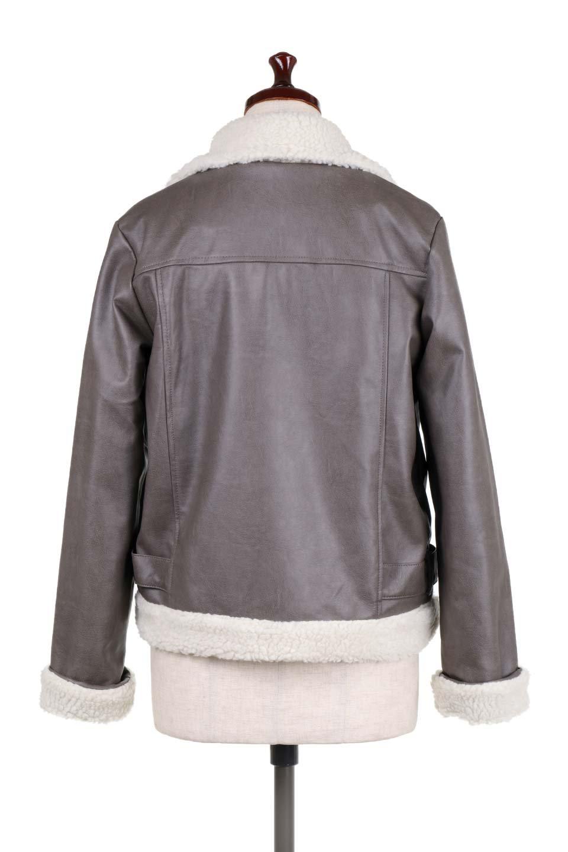 FauxShearlingBikerJKTボア付ライダースジャケット大人カジュアルに最適な海外ファッションのothers(その他インポートアイテム)のアウターやジャケット。裏ボアが嬉しいダブル襟のライダースジャケット。もはや定番となった人気のライダースジャケットを裏ボアにした暖かバージョン。/main-9