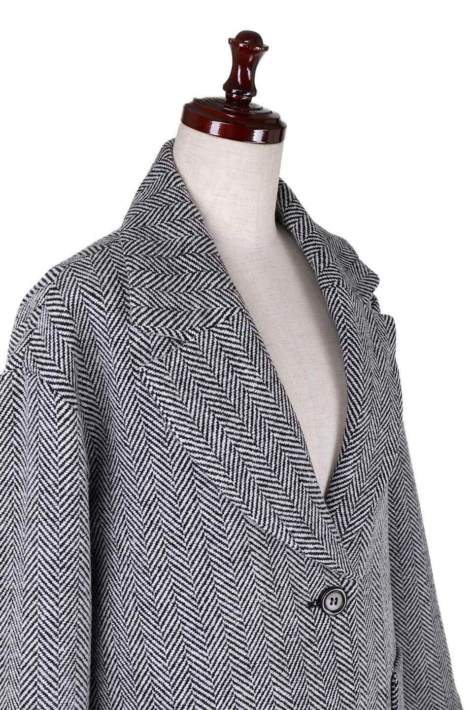 TweedHerringboneChesterCoatツイードヘリンボーン・チェスターコート大人カジュアルに最適な海外ファッションのothers(その他インポートアイテム)のアウターやコート。大人気のオーバーサイズ気味のチェスターコート。ヘリンボーンに織り込まれたツイードが上品な印象のコートです。/main-10