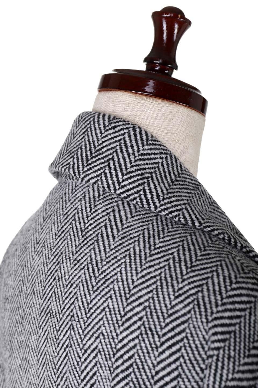 TweedHerringboneChesterCoatツイードヘリンボーン・チェスターコート大人カジュアルに最適な海外ファッションのothers(その他インポートアイテム)のアウターやコート。大人気のオーバーサイズ気味のチェスターコート。ヘリンボーンに織り込まれたツイードが上品な印象のコートです。/main-11