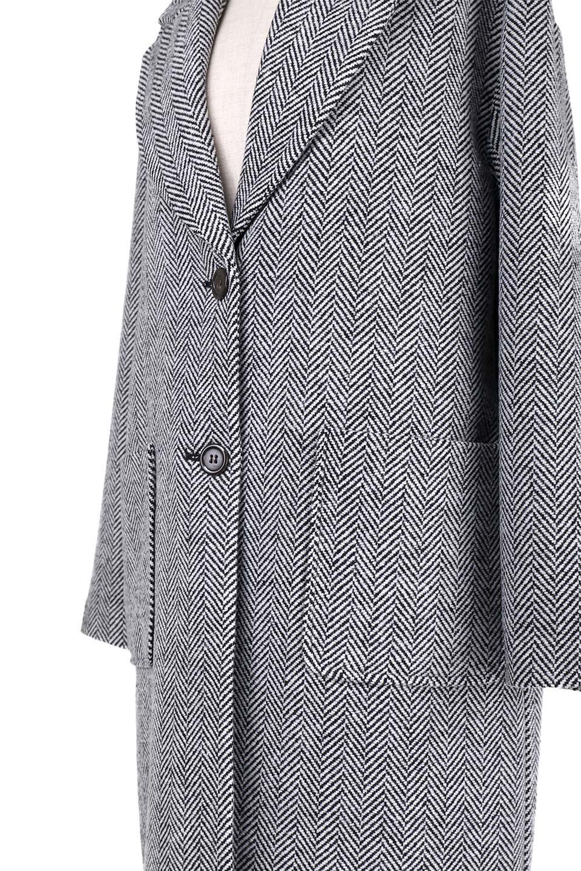TweedHerringboneChesterCoatツイードヘリンボーン・チェスターコート大人カジュアルに最適な海外ファッションのothers(その他インポートアイテム)のアウターやコート。大人気のオーバーサイズ気味のチェスターコート。ヘリンボーンに織り込まれたツイードが上品な印象のコートです。/main-14