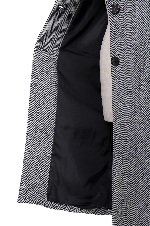 TweedHerringboneChesterCoatツイードヘリンボーン・チェスターコート大人カジュアルに最適な海外ファッションのothers(その他インポートアイテム)のアウターやコート。大人気のオーバーサイズ気味のチェスターコート。ヘリンボーンに織り込まれたツイードが上品な印象のコートです。/main-15