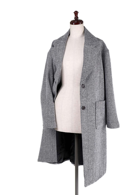 TweedHerringboneChesterCoatツイードヘリンボーン・チェスターコート大人カジュアルに最適な海外ファッションのothers(その他インポートアイテム)のアウターやコート。大人気のオーバーサイズ気味のチェスターコート。ヘリンボーンに織り込まれたツイードが上品な印象のコートです。/main-16