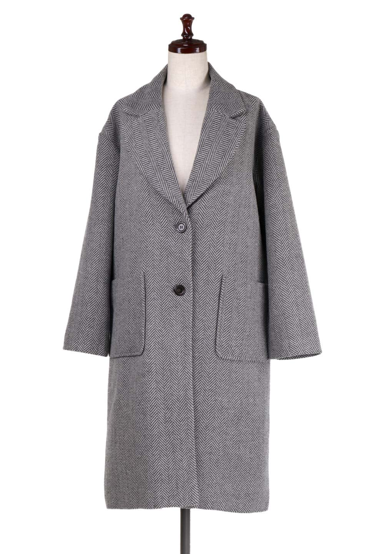 TweedHerringboneChesterCoatツイードヘリンボーン・チェスターコート大人カジュアルに最適な海外ファッションのothers(その他インポートアイテム)のアウターやコート。大人気のオーバーサイズ気味のチェスターコート。ヘリンボーンに織り込まれたツイードが上品な印象のコートです。/main-5