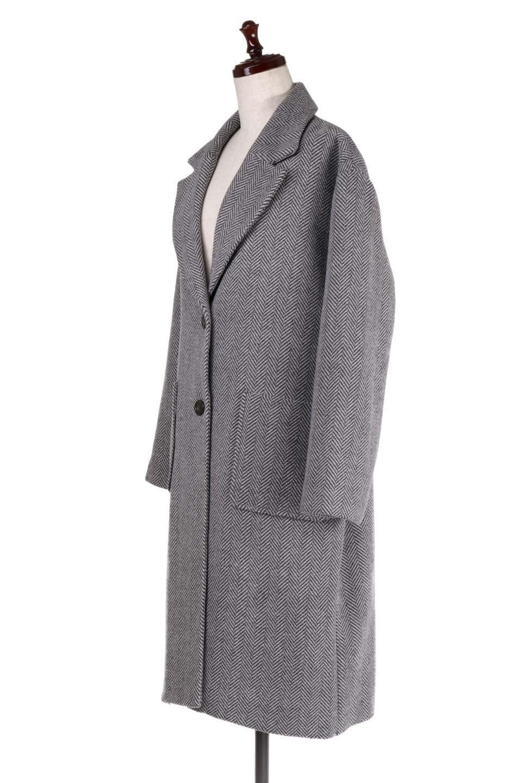 TweedHerringboneChesterCoatツイードヘリンボーン・チェスターコート大人カジュアルに最適な海外ファッションのothers(その他インポートアイテム)のアウターやコート。大人気のオーバーサイズ気味のチェスターコート。ヘリンボーンに織り込まれたツイードが上品な印象のコートです。/main-6