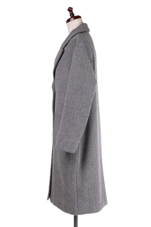 TweedHerringboneChesterCoatツイードヘリンボーン・チェスターコート大人カジュアルに最適な海外ファッションのothers(その他インポートアイテム)のアウターやコート。大人気のオーバーサイズ気味のチェスターコート。ヘリンボーンに織り込まれたツイードが上品な印象のコートです。/main-7