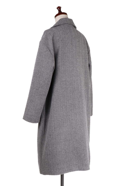 TweedHerringboneChesterCoatツイードヘリンボーン・チェスターコート大人カジュアルに最適な海外ファッションのothers(その他インポートアイテム)のアウターやコート。大人気のオーバーサイズ気味のチェスターコート。ヘリンボーンに織り込まれたツイードが上品な印象のコートです。/main-8