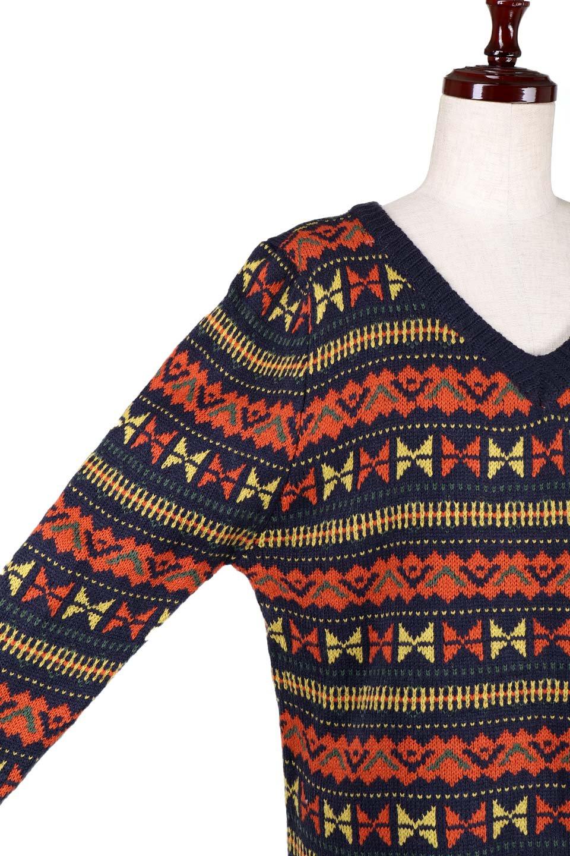 L.A.直輸入のGeometryV-kneckSweaterジオメトリーVネックセーター大人カジュアルに最適な海外ファッションのothers(その他インポートアイテム)のトップスやニット・セーター。ネイティブ調の幾何学模様のジャカードセーター。ユッタリ目の大きさなのでインナーを着ても余裕があるサイズ感です。/main-11
