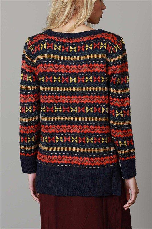 L.A.直輸入のGeometryV-kneckSweaterジオメトリーVネックセーター大人カジュアルに最適な海外ファッションのothers(その他インポートアイテム)のトップスやニット・セーター。ネイティブ調の幾何学模様のジャカードセーター。ユッタリ目の大きさなのでインナーを着ても余裕があるサイズ感です。/main-7